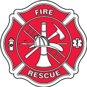 Fire Department Firefighter Maltese Cross Trucks Sticker 4