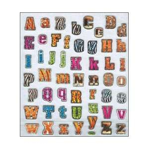 Tattoo King Multi Colored Stickers Animal Print Alphabet