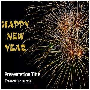 Happy New Year Powerpoint Template   Happy New Year