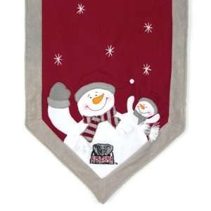 Alabama Crimson Tide NCAA Snowman Table Runner (72x15