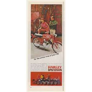 1967 Harley Davidson M 65 Motorcycle Action Time of Your Life Print Ad