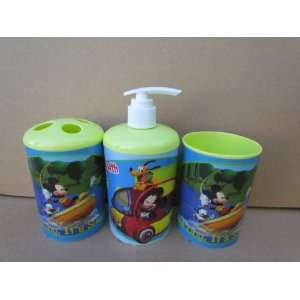 Mickey & Minnie 3 Piece Bathroom Accessories Set   Toothbrush Holder
