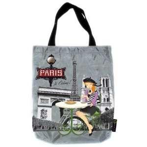 PARISIAN CITY CHICA REUSABLE TOTE TRAVEL TOTES BAG