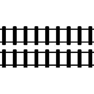 STRAIGHT TRAIN TRACKS.WALL STICKERS DECALS ART DECOR, BLACK