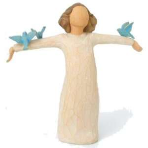 Willow Tree Happiness Angel Figurine, Susan Lordi 26130