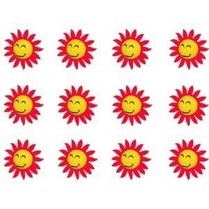 Smiley Face Sun w/ Red Sunray Tips Car Truck SUV Antenna Topper   12PK