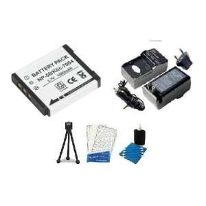 Battery And Charger Kit Includes Replacement NP 50 Batteries