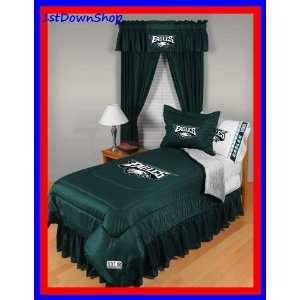 Philadelphia Eagles 4Pc LR Twin Comforter/Sheets Bed Set