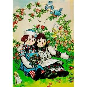 Raggedy Ann & Andy Seated Small Valentine Cards (10)