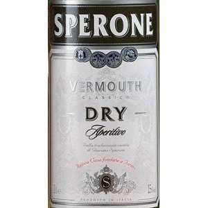 Sperone Vermouth Dry 1 Liter Grocery & Gourmet Food