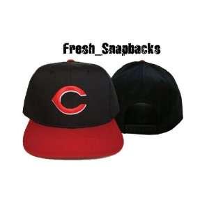Cincinnati Reds Vintage Black Snapback Hat Cap Retro Deon Sanders