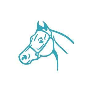 Horse TEAL Vinyl window decal sticker Office Products