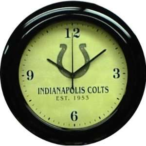 Indianapolis Colts Mahogany Wood Frame Wall Clock Sports & Outdoors