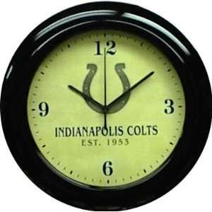 Indianapolis Colts Mahogany Wood Frame Wall Clock