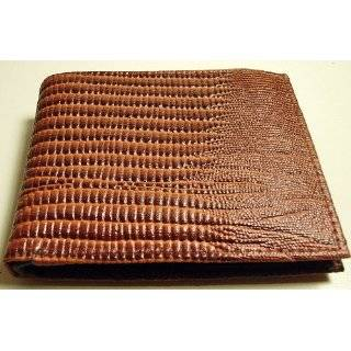 Design Genuine Leather Bi Fold Mens Wallet Card Picture Pockets Brown