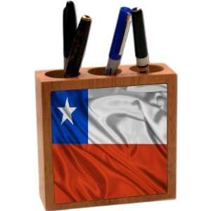 com Rikki KnightTM Chile Flag 5 Inch Tile Maple Finished Wooden Tile