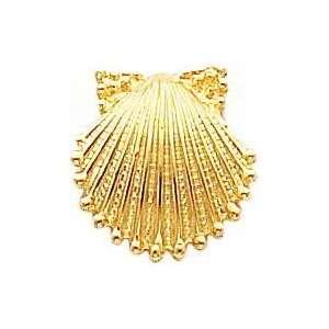 14K Yellow Gold Sea Shell Stud Earrings Jewelry New A