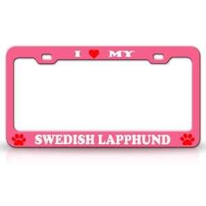I LOVE MY SWEDISH LAPPHUND Dog Pet Animal High Quality