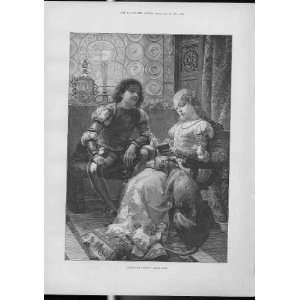 Three Good Friends After Detti Fine Art Antique Print