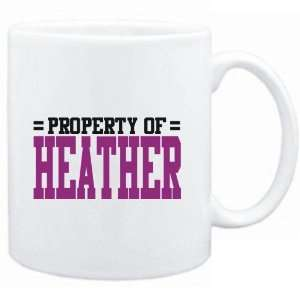 Mug White  Property of Heather  Female Names  Sports
