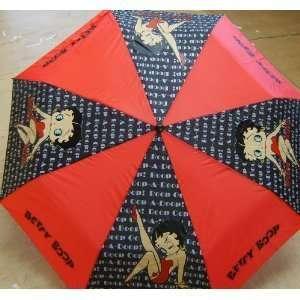 Betty Boop Fold Umbrella Blsck Red Kiss Everything Else