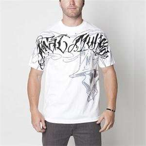 Metal Mulisha Robber T Shirt   Large/White Automotive