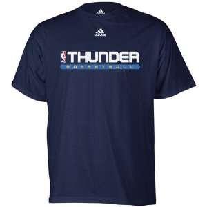 adidas Oklahoma City Thunder Navy Blue True Court T shirt