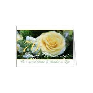 70th Wedding Anniversary card for Sister & Brother in Law