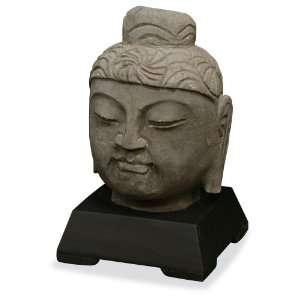 Stone Buddha Head Statue Sculpture
