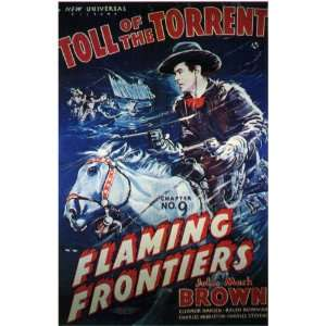 Flaming Frontiers Movie Poster (11 x 17 Inches   28cm x