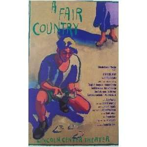 A FAIR COUNTRY (ORIGINAL BROADWAY THEATRE WINDOW CARD