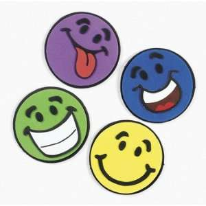 12 ~ Smile Face Magnet Craft Kits ~ Foam ~ Individually Packaged ~ 4