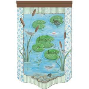 pond life living freshwater blue personalized wall hanging