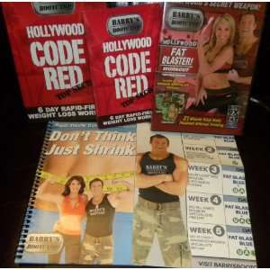 BARRYS BOOTCAMP 2 DVD SET with 6 Day RAPID FIRE Weight Loss WORKOUT