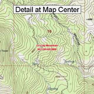 USGS Topographic Quadrangle Map   Grizzly Mountain, Oregon (Folded
