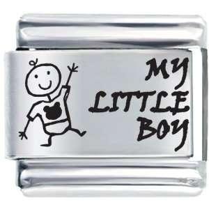 My Little Boy Italian Charms Bracelet Link Pugster