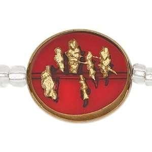 Blue Moon Orient Express Glass Beads, 6/Pkg, Round, Red