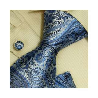 Blue Florals Men with Ties White Christmas Gift Italian