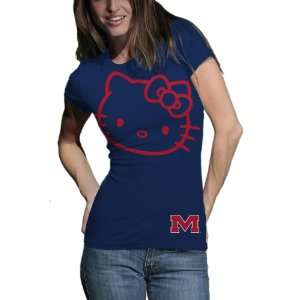 Mississippi Ole Miss Rebels Hello Kitty Inverse Junior Crew Tee Shirt