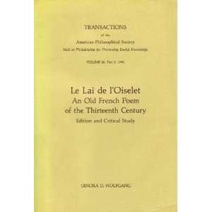 Le Lai De LOiselet An Old French Poem of the Thirteenth