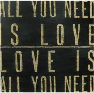 All You Need Is Love Wooden Sign   Wooden Signs   Wall Decor   Home