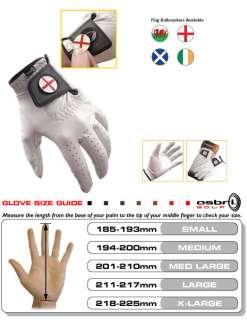Asbri Golf Leather Cabretta Golf Glove   Patriotic Flag
