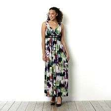 Ronni Nicole O So Slim Watercolour Print Maxi Dress   take a closer