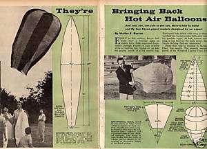 MODEL *HOT AIR BALLOON* HOW TO PLANS 2 DESIGNS ORIGINAL