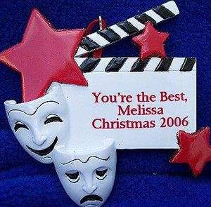 THEATER   Comedy   Tragedy Mask Ornament   Personalized