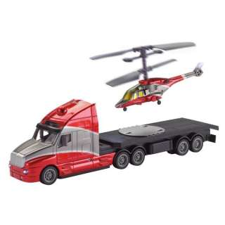 Remote Control Semi Truck w/ Helicopter at Brookstone—Buy Now!