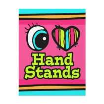 Bright Eye Heart I Love Hand Stands Full Color Flyer by super_shop