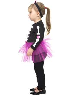 Toddler Skellie Girl Costume  Jokers Masquerade