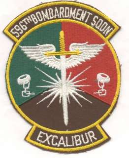 596th BOMB SQUADRON patch