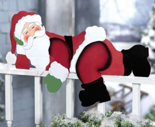 Funny Santa Christmas Yard Decoration from Collections Etc.